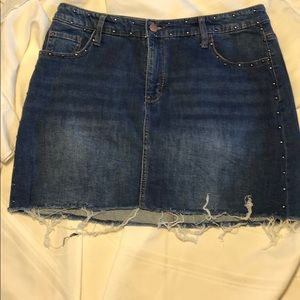 WILD FABLE studded denim cut-off skirt size 16